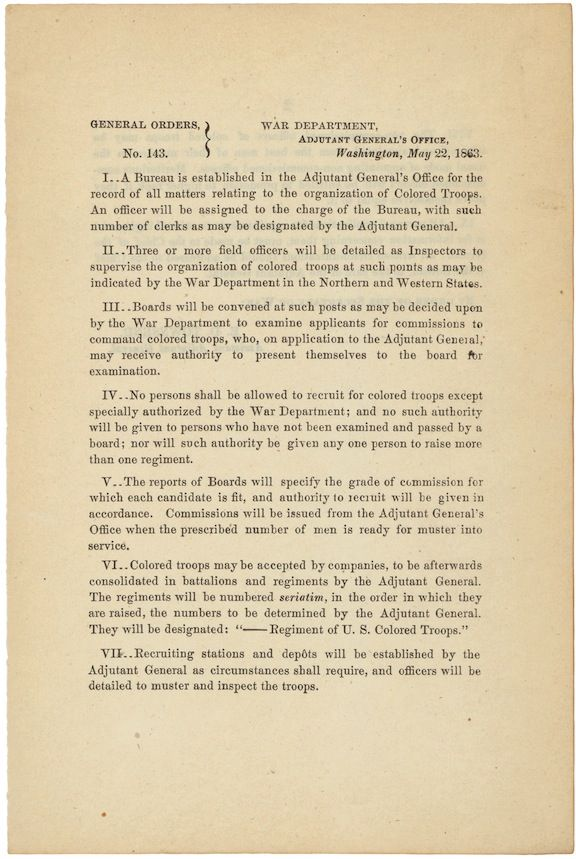 Prologue  Pieces of History » Emancipation Proclamation  Creation of the  United States Colored Troops 5811e6614dfb4