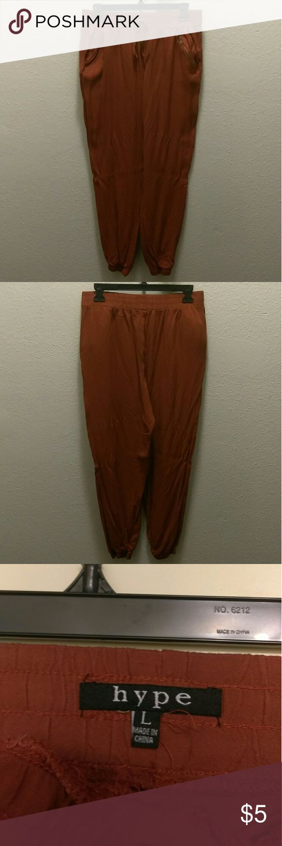 Brown Joggers Silk Like Material And Very Comfortable Hype Pants Track Pants & Joggers