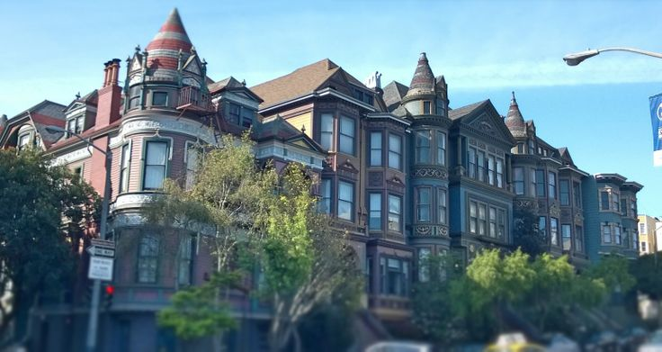 Houses in Haight-Ashbury district, San Francisco