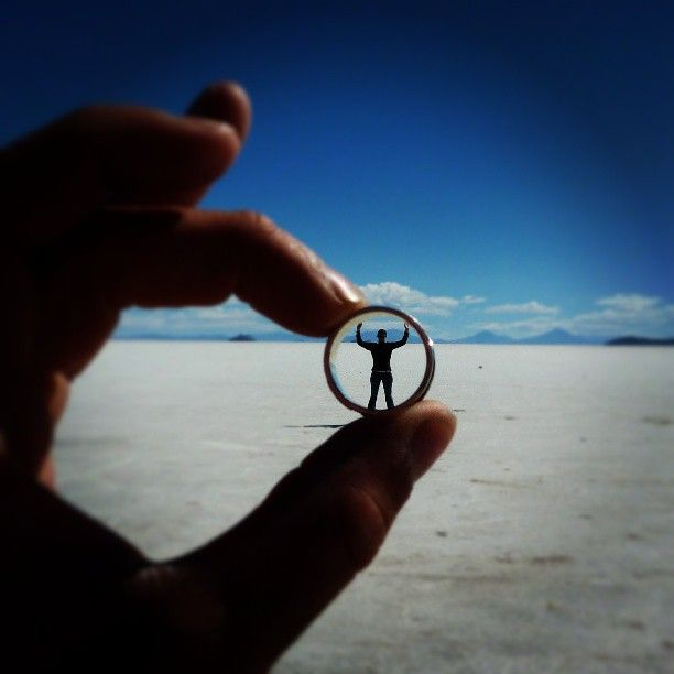 Bulgaria Salt Flats Optical Illusion and forced perspective photography