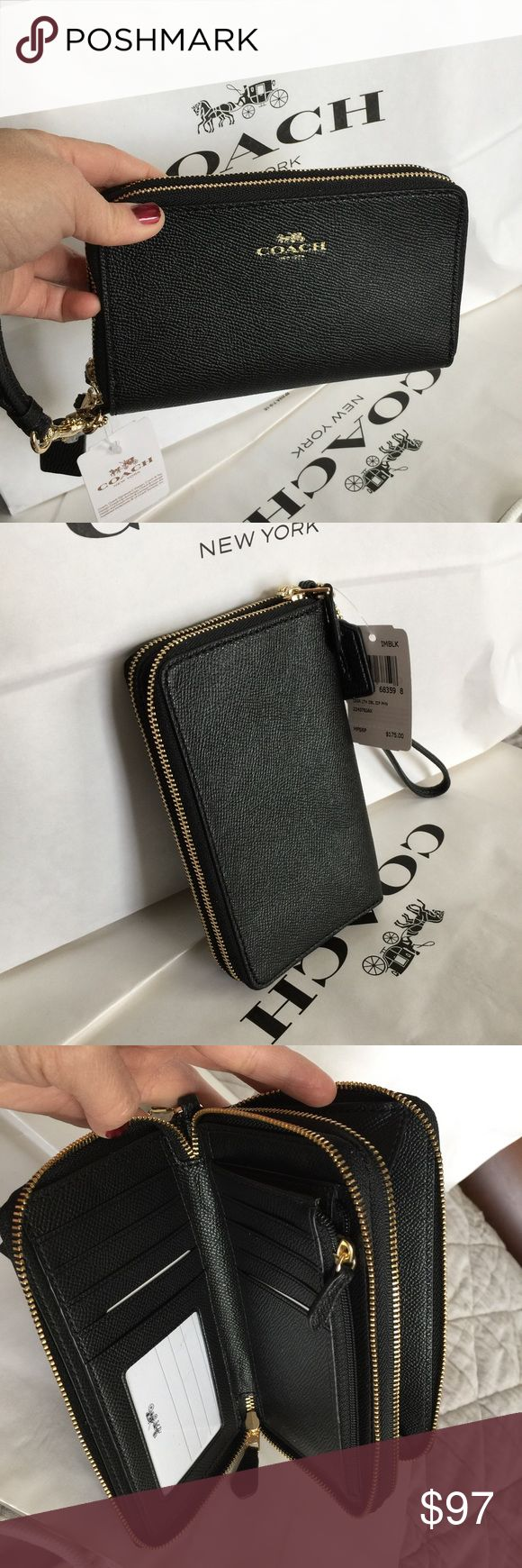 🎄Coach Wallet🎄 100% Authentic Coach Wallet, brand new!😍😍😍color Black🎄🎄🎄 Coach Bags Wallets