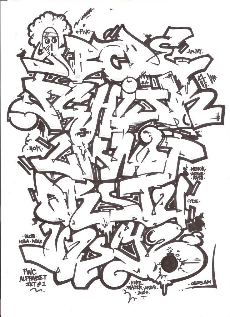 Best 25 bubble letters ideas on pinterest bubble - Graffiti alphabet bubble ...