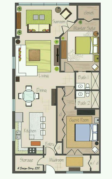 38 best Houses plans images on Pinterest Little house plans, Small - plan maison plain pied 80m2