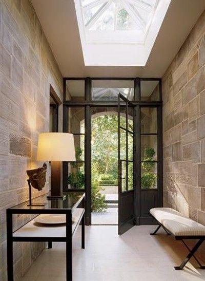 beautiful doorsThe Doors, Entry Doors, Peter Marino, Stones Wall, Interiors, Front Doors, Sky Lights, Skylight, Glasses Doors