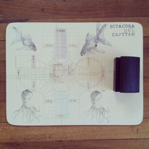Tablero de parqués con mapas imaginario del capitán. Pieza única #himallineishon #game #illustration #handmade #homedecor