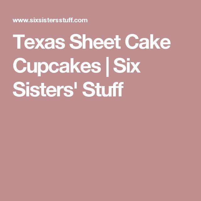 Texas Sheet Cake Cupcakes | Six Sisters' Stuff