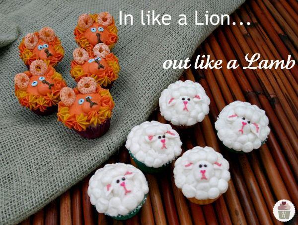 Lion And Lamb Cupcakes : So Cute!