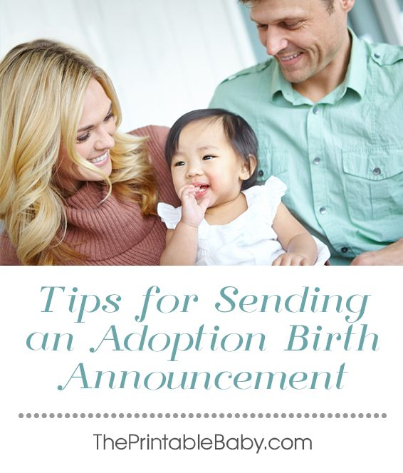 information on how to create your own adoptive birth announcement with lists of ideas and relevant items to include