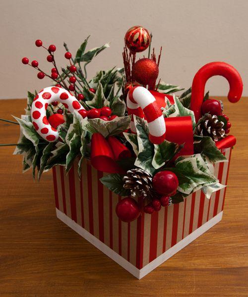 165 best images about centros de mesa navidad on pinterest - Como hacer un centro de mesa navideno ...