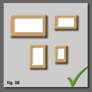 How To Hang And Align Pictures Correctly On A Wall : align different sizes from top and center