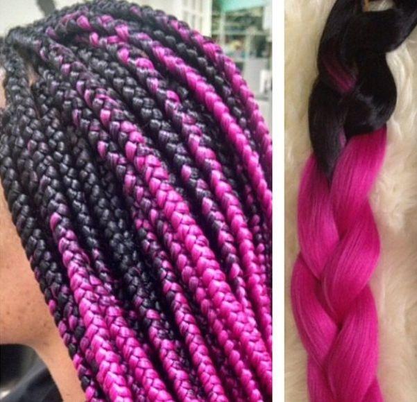 Hot pink ombre braiding hair! Jumbo braiding hair! Want this hair color? Click the link below!  http://s.click.aliexpress.com/e/eEU76MNNJ