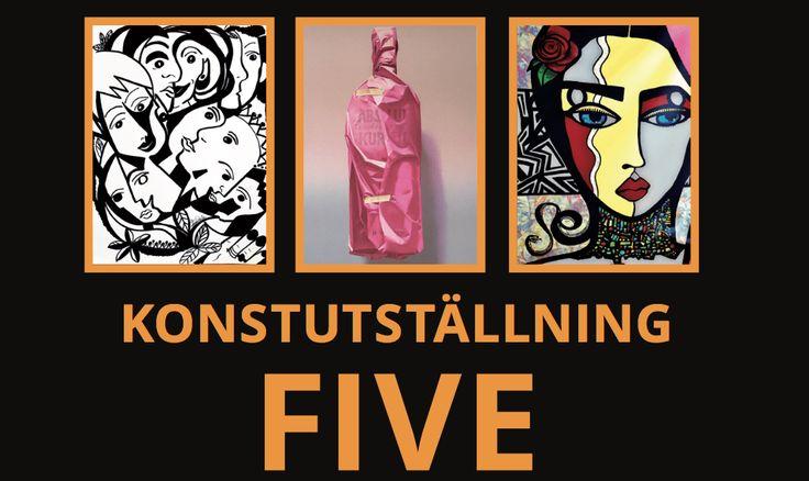 Konstutställning FIVE