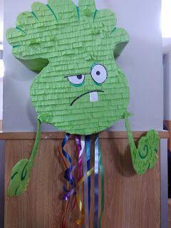 Piñata hecha a mano Plants vs zombies