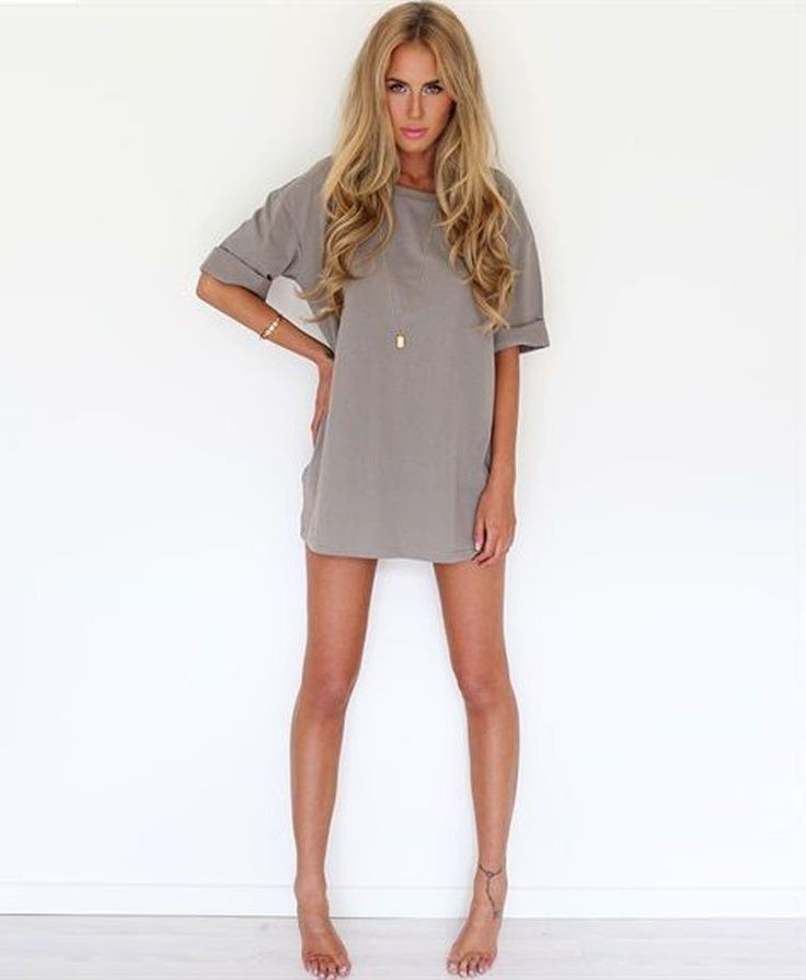 Image of Hot cute A round collar sleeves loose snow spins the a-line dress