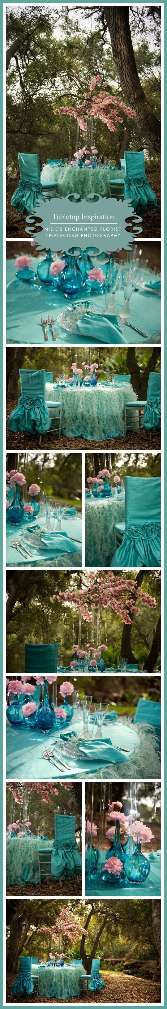 Blue Wedding Theme! Way out of my budget but LOVE the concept!