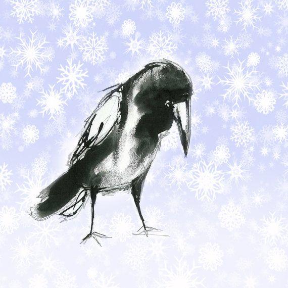 открытка нов ворона