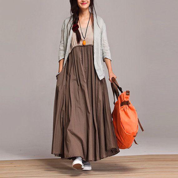 Maxi Dress / Summer Dress / Linen Sundress for by Focus2013