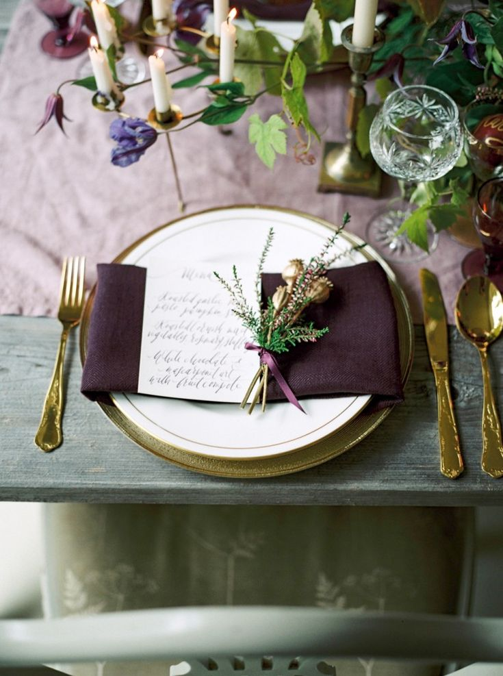 Simple Lovely Table Setting ♥