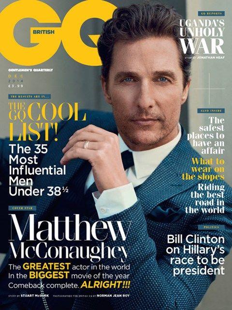 Matthew McConaughey covers British GQ - GQ.COM (UK)