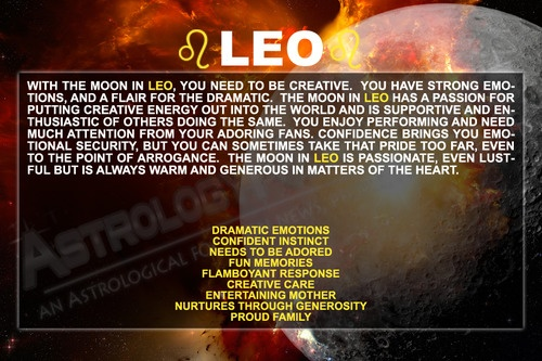 Leo (Moon Sign) - yeah that's pretty much me
