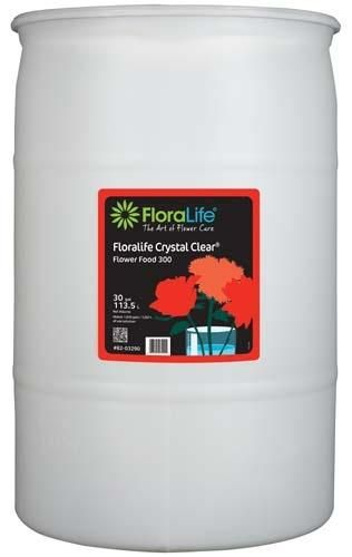 Floralife CRYSTAL CLEAR® Flower Food 300 Liquid, 30 gallon, 30 gallon drum
