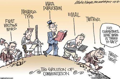 #evoluzione #comunicazione #secoli