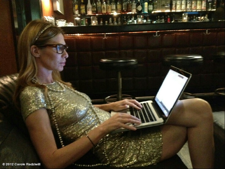 Carole Radziwill's photo: Finishing last edits on Widows Guide waiting to start filming Russ' video.
