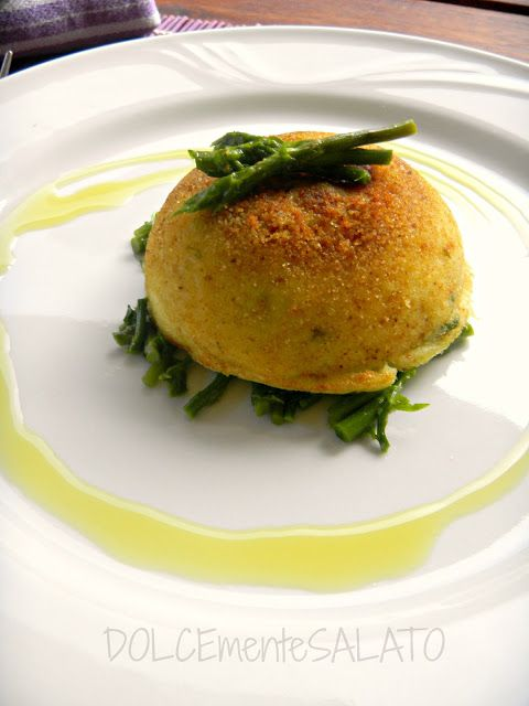 DOLCEmente SALATO: Gateau monoporzione di patate con cuore di asparag...