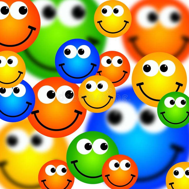 Smileys background. Background with lots of happy and