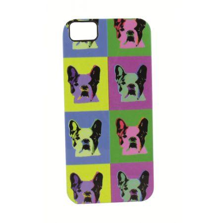 """Coque rigide """"Waouf"""" multicolore pour iPhone 5/5S"""