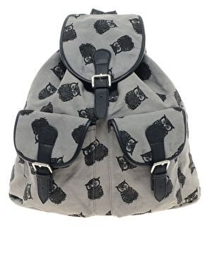 ASOS Owl Print Backpack. NEED. Oh goodness.