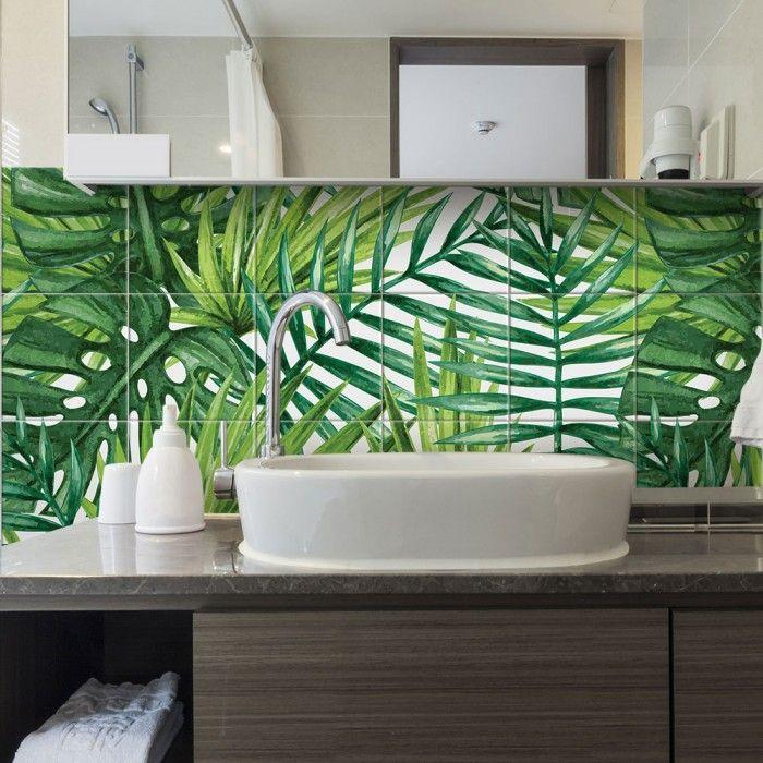 25,42 euro - adesivi per piastrelle Jungle  https://www.adesivimurali.com/collezioni-profumi-tropicali/PS00119-jungle