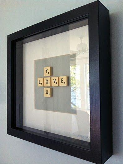 Decorar con letras de Scrabble                                                                                                                                                                                 Más