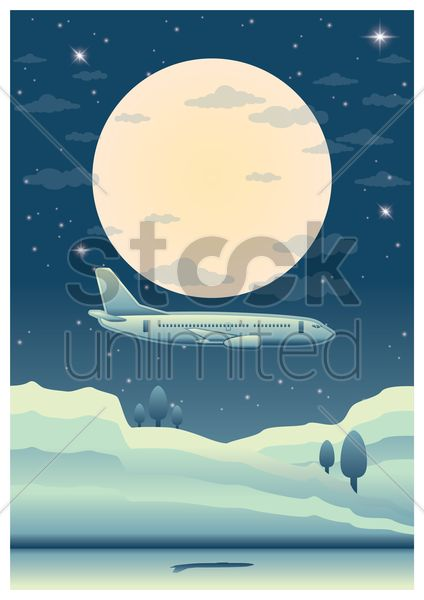 aeroplane poster vector graphic