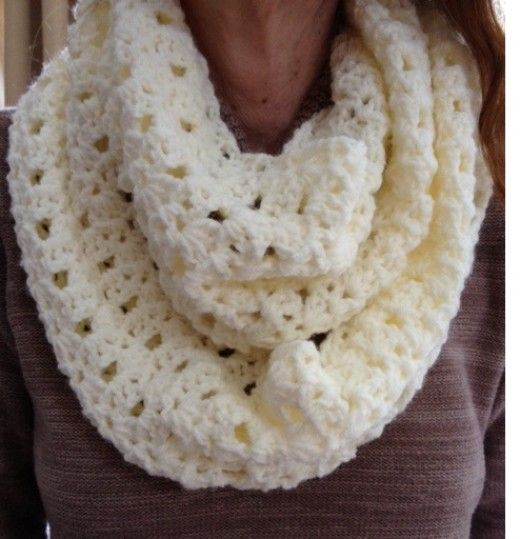 Lacy Infinity Scarf - Barb's Free Crochet Patterns