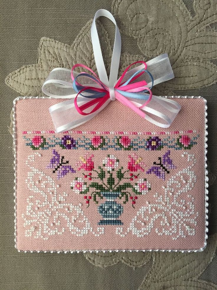 Just Nan Finished Cross Stitch Ornament Queen of the Needle in Crafts, Handcrafted & Finished Pieces, Needle Arts & Crafts | eBay