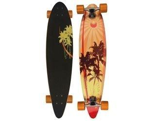 "Nijdam Longboard Pintail Palmtree 39"""