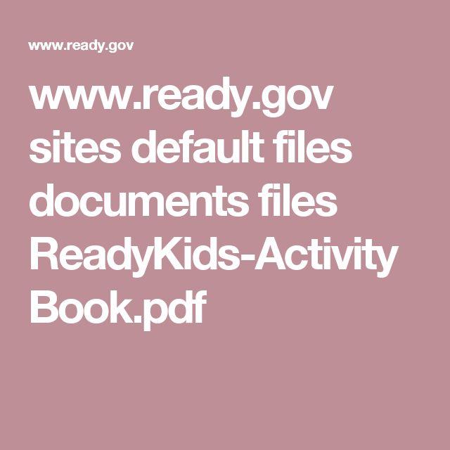 www.ready.gov sites default files documents files ReadyKids-ActivityBook.pdf