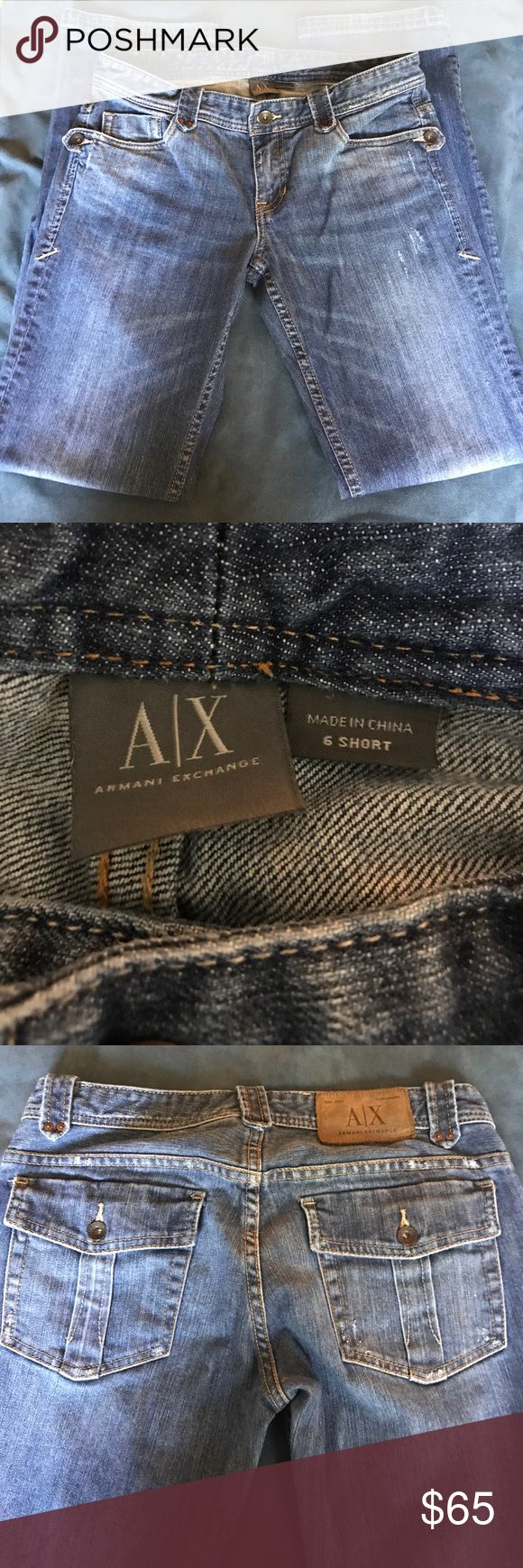 Armani Exchange Jeans Boot cut size 6 short A/X Armani Exchange Jeans Boot Cut