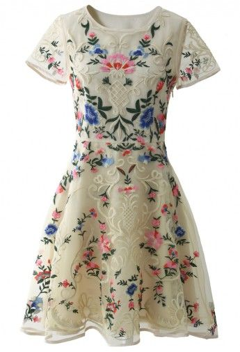 Garden Embroidered Beige Organza Dress You could receive 10 Points for writing a review and/or rating this product. 12 items left R$183.77 ...