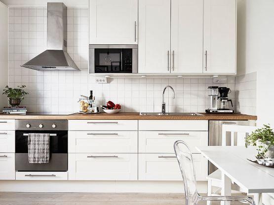 Las 25 mejores ideas sobre cocinas blancas modernas en - Fotos de cocinas pequenas y alargadas ...