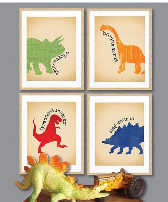 Les garçons Art/dinosaure mur Art / crèche garçons Decor /