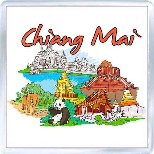 Acrylic Fridge Magnet: Thailand. Chiang Mai