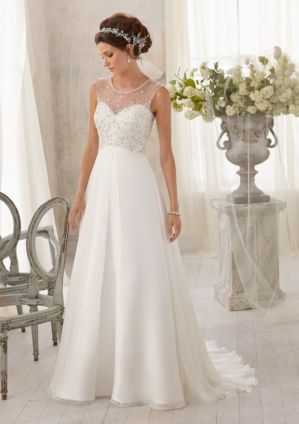 Sparkling Wedding Dresses a Line Chiffon