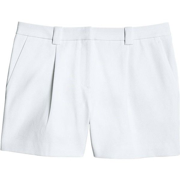 Canvas by Lands' End Women's Bi-Stretch Shorts ($52) ❤ liked on Polyvore featuring shorts, summer shorts, pleated shorts, stretchy shorts and stretch shorts