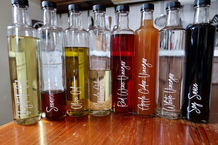 oil vinegar bottle labels kitchen and pantry organisation etsy in 2020 bottle on kitchen organization oil and vinegar id=56751