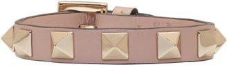 Shop Now - >  https://api.shopstyle.com/action/apiVisitRetailer?id=651710350&pid=uid6996-25233114-59 Valentino Pink Valentino Garavani Leather Rockstud Bracelet  ...