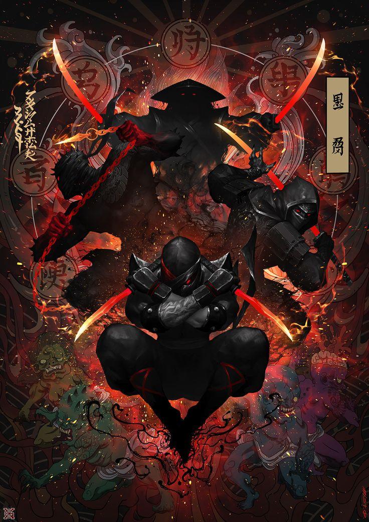 Ink Ninja, mist XG on ArtStation at https://www.artstation.com/artwork/qYWw2