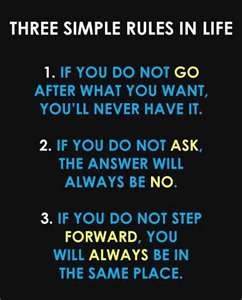 Three simple rules. Life rules