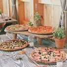 Pizza stations are a hit with everyone at weddings! Give your guests the gift of a yummy slice after a night of dancing and drinking at your wedding! The more options the better and your venue's chef will likely be able to help craft the right combination! #pizza  Toronto wedding planner Whim Event Coordination and Design inquiries@eventsbywhim.ca